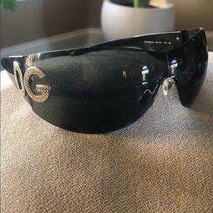 D and G Black Sunglasses
